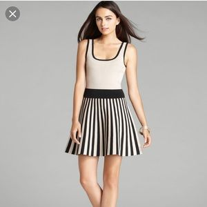 Guess black and white striped dress!